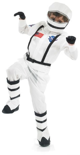 Space Girl Costume Uk (Spaceman Astronaut Childs Fancy Dress Costume - M 50inch Height)