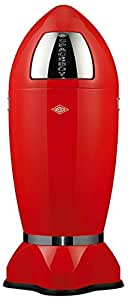 Wesco Spaceboy - German Made - X-Large Push Door Trash Can, Powder Coated Steel, 9.2 Gallons / 35 L, Red