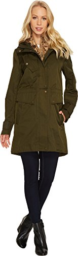 Vince Camuto Womens Parka with Removable Bib N8781 Olive 2 MD (US 8-10) One (Poly Fill Quilted Vest)