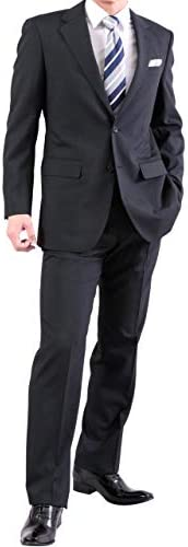 スーツ メンズ ビジネススーツ 2つボタン 春夏 アジャスター付き ツーパンツ ウォッシャブルスラックス レギュラーフィット