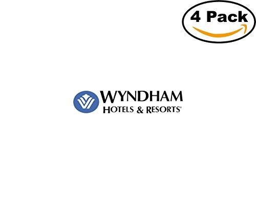Wyndham Hotels Resorts 4 Stickers 4X4 Inches Car Bumper Window Sticker Decal