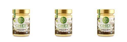 Vanilla Bean Grass-Fed Ghee Butter by 4th & Heart, 9 Ounce, Pasture Raised, Non-GMO, Lactose Free, Certified Paleo, Keto-Friendly - 3 Pack by 4th & Heart (Image #4)