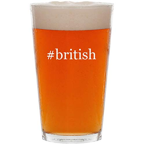 #british - 16oz Hashtag All Purpose Pint Beer Glass