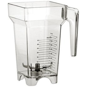 Blendtec 40-609-63 - Replacement FourSide 64oz Blending Jar (with 3'' Blade - for Blender Dispenser Systems) by Blendtec