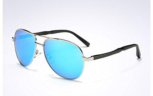 TL Gafas de UV Deportivas blue Sunglasses Negro Sol Ojos Gafas protegen silver Sol los Revestimiento de Gris polarizadas400 r5HrPYnO
