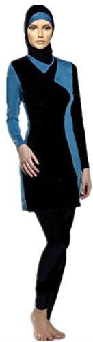 [ Low Season Muslim Islamic Hijab Swimwear Modest Swimsuit Costume (Int'l - S, HijabDetachable 6)
