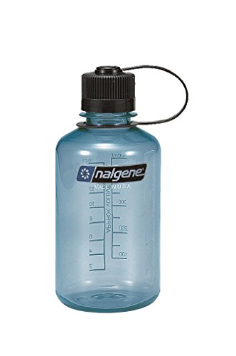 Nalgene Tritan 1 Pint Narrow Mouth BPA-Free Water Bottle, Slate Blue