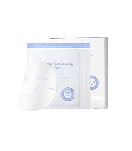 Sheets 5 Mask Essence (BY WISHTREND Hours-Long Moisturizing Gauze Sheet Mask, 5 pcs in a Box, brightening, essence, anti-wrinkle effect)