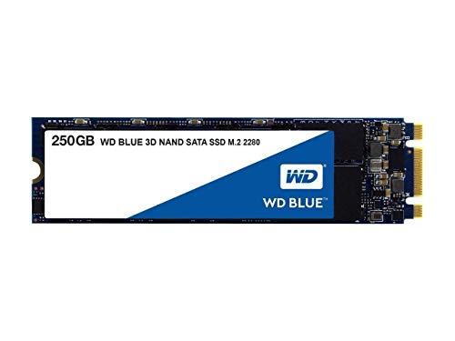WD Blue 3D NAND 250GB Internal PC SSD - SATA III 6 Gb/s, M.2 2280, Up to 550 MB/s - WDS250G2B0B