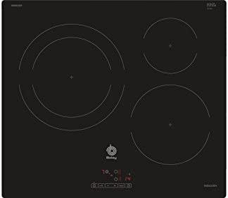 Balay 3EB865ER hobs Negro Integrado Con - Placa (Negro, Integrado, Con placa de inducción, Vidrio, 1400 W, 15 cm)