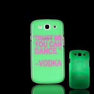 GX Teléfono Móvil Samsung - Cobertor Posterior - Gráfico/Diseño Especial/Resplandor en la Oscuridad - para Samsung S3 I9300 Plástico )