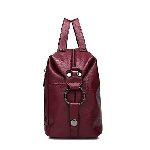 Purple Gold Handbag Leather W28H19D14CM PU Bag Shoulder Women 0OXqqwR