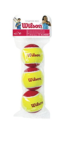 Wilson US Open Starter Balls Pack of 3 (Red/Yellow, 75 mm)