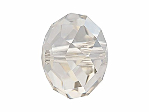 Bulk Swarovski Crystal Beads (24pc Wholesale Swarovski 5040 8mm Crystal Silver Shade Rondelle Briolettes)