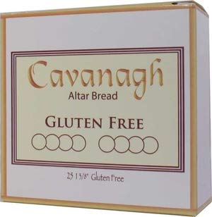 Gluten Free 1 3/8'' Diameter (35mm) Altar Communion Bread 25 Count Boxed Individually Wrapped