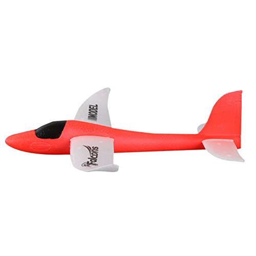 Epp Durability Airplane (Wenasi Throwing Glider Inertia Plane Foam Aircraft Toy Hand Launch Airplane Model Outdoor Sports Toy for Kids Children Boy Girl as Gift (9.8 x 12.6 x 5.5 in,Red))