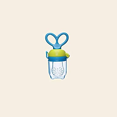 Leoie Baby Fruit Feeder Pacifier - Fresh Food Feeder, Infant Fruit Teething Toy, Silicone Pouches for Toddlers & Kids Sky Blue M: Toys & Games