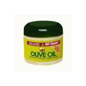 ORGANIC ROOT STIMULATOR OLIVE OIL EXTRA RICH FOR DRY THIRSTY HAIR 237ml jar by Organic Root ()