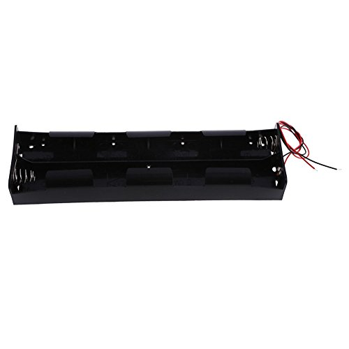 Chinatera Black 12V Battery Case Holder Case 8X D Size Cell Box Open Wire