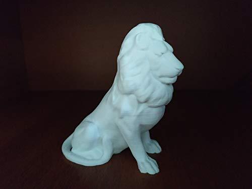 Lion ceramic-like figurine