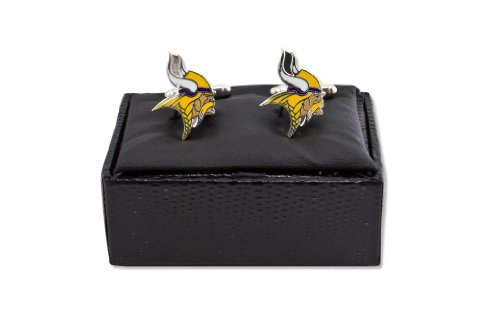 NFL Minnesota Vikings Cut Out Logo Cuff Link, Silver