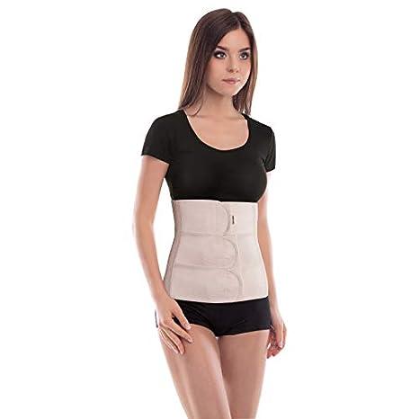Abdominal Binder Support Bandage Back Support Belt Abdominal Belt Belly Support Height 31 cm Small Black