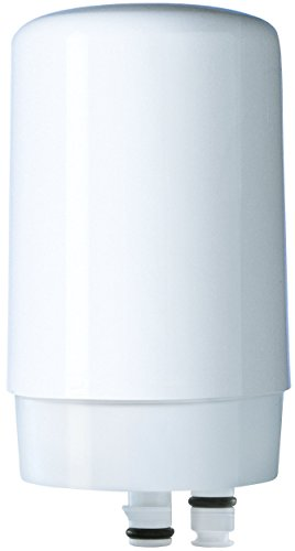 Brita On Tap Faucet Water Filter System Replacement Filters, White, 1 Count (Water Filter Brita Faucet)