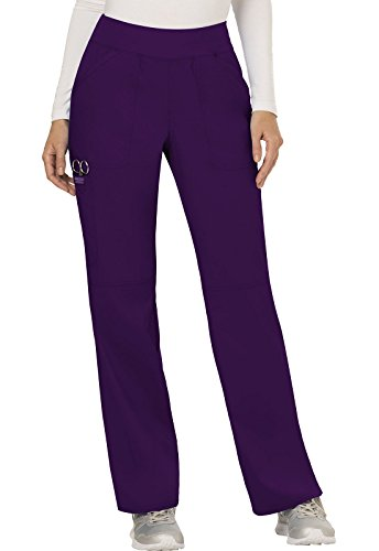 WW Revolution by Cherokee Women's Mid Rise Straight Leg Pull-on Pant Tall, Eggplant, X-Small Tall by WW Revolution by Cherokee