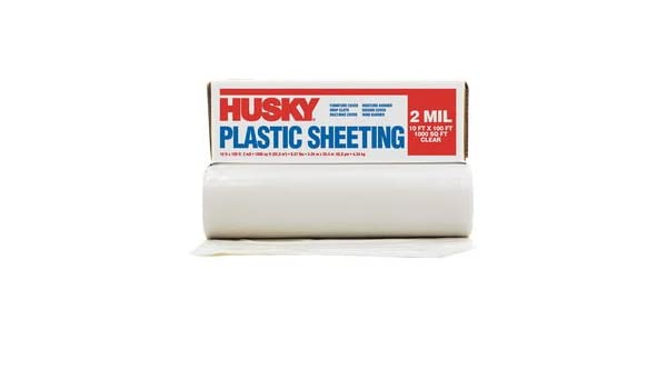 Amazon com: Poly-America 10' X 100' Clear 2 mil Polyethylene Husky