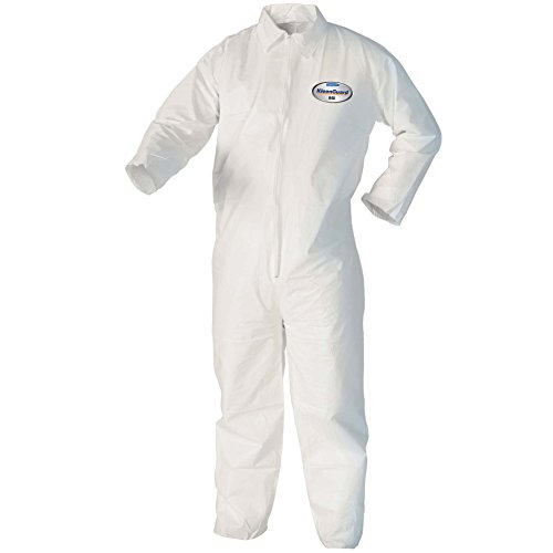 Kleenguard 37687 A40 Liquid and Particle Protection Microporous Film Coveralls, Vending Machine Ready,, 6.750'' Height, 2.750'' Width, 6.750'' Length, 2XL, White (Pack of 25) by KLEENGUARD