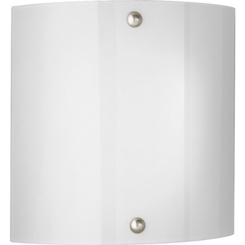 (Progress Lighting P7093-09EBWB 1-Light Energy Star Wall Sconce with 120 Volt Normal Power Factor Electronic Ballast, Brushed Nickel)