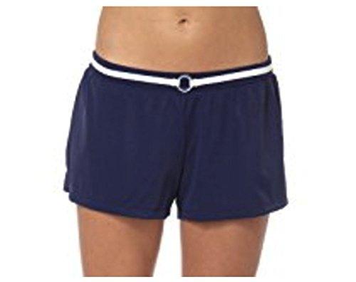 South Point Swim Ladies Swimwear Separates Tankini Bikini Shorts Skirts Tops & Bottoms (12, Belted Swim Shorts (Deep Sea Blue)) (Bottom Belted Bikini Swimsuit)