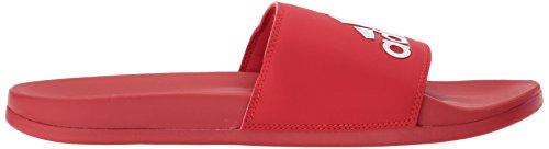 adidas Herren Adilette CF + Logo Slide Sandale Scharlachrot / Scharlachrot / Weiß
