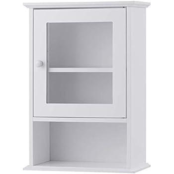 Amazon.com: Tangkula Bathroom Cabinet, Wall Mounted