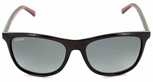 Gucci Unisex Sunglasses GG1055 051N Shiny Black 55mm Authentic - Gucci Shades For Men