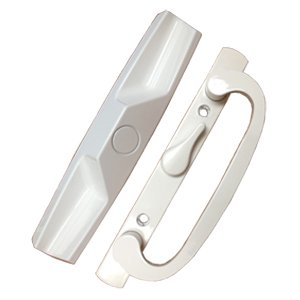 PATIO DOOR HANDLE SET WHITE REPLACEMENT PD1400WHITE CENTER