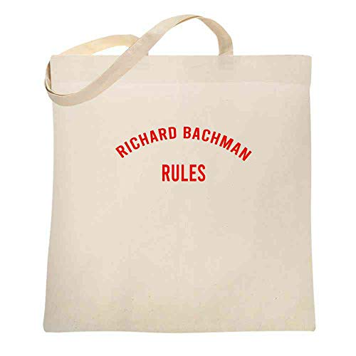 Richard Bachman Rules Horror Funny Natural 15x15 inches Canvas Tote Bag -