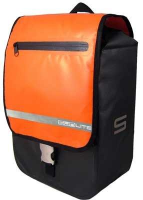 - Sunlite Fortress Waterproof Front Pannier Bag - 595 cubic inches - Orange