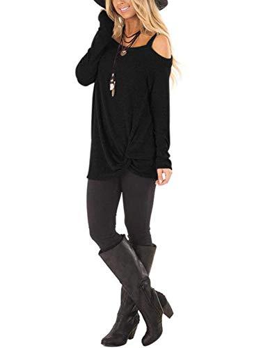 manga tops Aitosula t de mujer larga camiseta 7w76OUgIqE