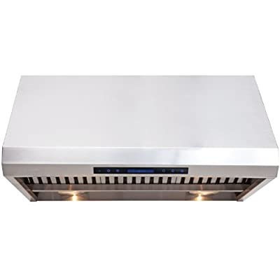 """CAVALIERE 42"""" Under Cabinet / Wall Mounted Stainless Steel Kitchen Range Hood w/Remote Control AP238-PS85-42"""