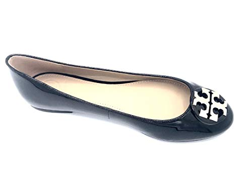 (Tory Burch Patent Leather Claire Ballet Flat (7.5, Perfect Black))