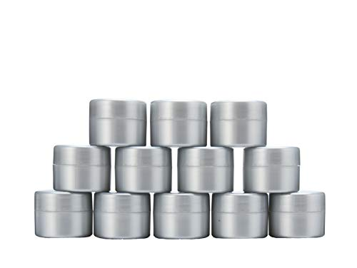 MHO Containers | Pearlized Plastic Cosmetic Jars - Double-Walled, Screw-on, Refillable, 7 gram/0.25oz (12 count) ()