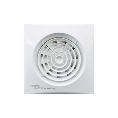 Quiet Bathroom Light Pull Switch: Manrose 100mm Low Profile Extractor Fan/Timer