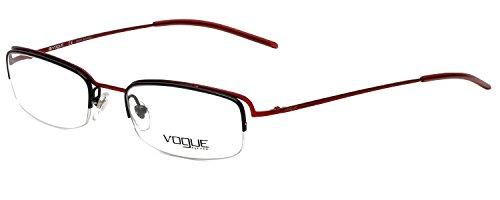 Vogue Designer Eyeglass Frame VO3504-733 in Red Black ()