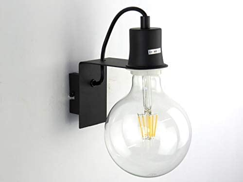 MINI A1 BK lampada da parete applique industriale minimale moderno nero vintage DIAMANTLUX