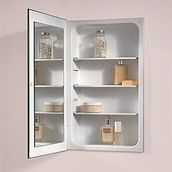 Jensen 1035P24WHG Cove Single Door Recessed Medicine Cabinet