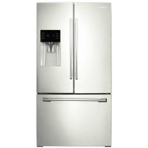 26 cu. ft. Capacity French Door Refrigerator With High Efficiency LED Lighting Twin Cooling Plus System Gallon Door Bins EZ-Open Handle & In