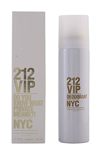 Carolina Herrera 212 Vip By Carolina Herrera for Women - 5 Oz Deodorant Spray, 5 Ounce (Carolina Herrera Deodorant Stick)
