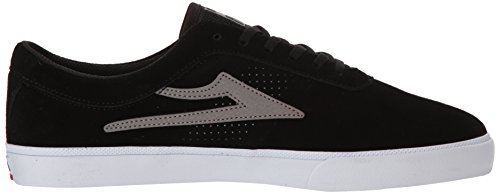 Lakai Sheffield Skate Shoe Black / Grey Suede