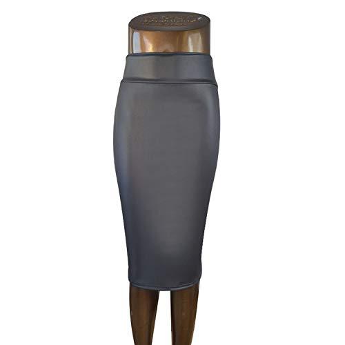 Femme Femme Faux de pour Reveryml Taille Black Jupes Cuir en Haute Bureau 0wadTxvq